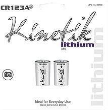 KINETIK Cr123a Photo Batteries, Black (88138)