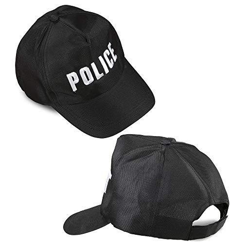 Widmann 3606 03636 - Polizei Cap, Größenverstellbar, Police, Mütze, Mottoparty, Karneval
