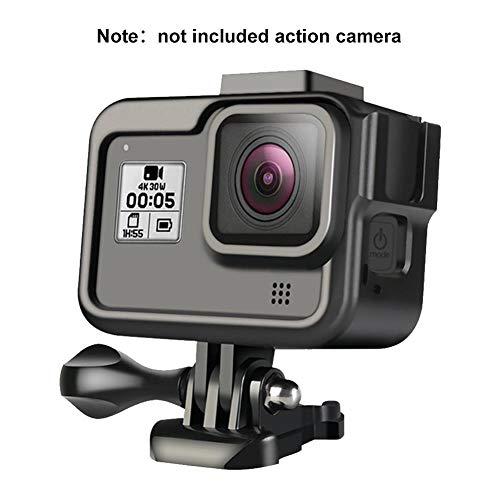 Brownrolly behuizing van aluminiumlegering voor framemontage beschermhoes met sokkel en bevestigingsschroeven voor GoPro Hero 8 Action Camera Accessoires