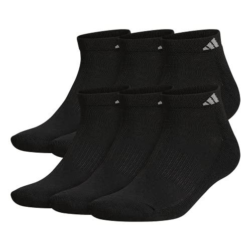 adidas Men's Athletic Cushioned Low Cut Socks (6-Pair), Black/Aluminum...