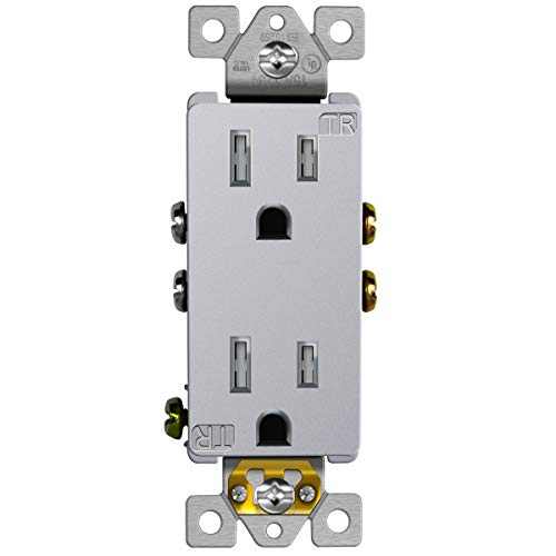 stainless steel 15 amp outlets - 3