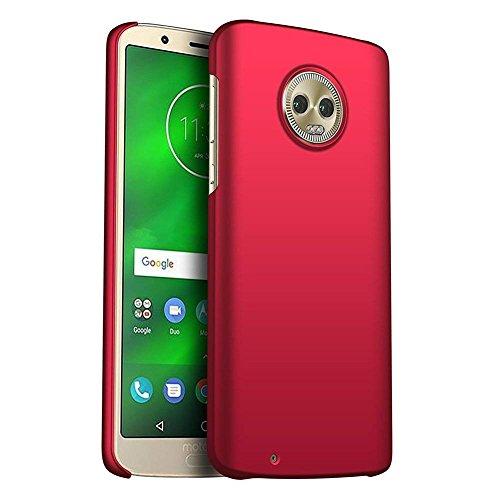 FanTings Capa para Motorola Moto Z3 Play, [ultrafina] [antiqueda] [sensação de seda] Capa protetora para celular PC rígida para Motorola Moto Z3 Play-Red