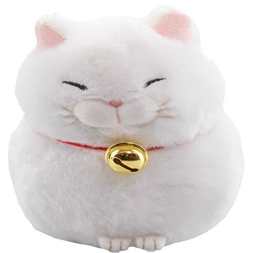 MeralenS Higemanjyu Hige Manjyu Kuromame Weisse Katze Sleepy Cat Plüsch Weiß Höhe 13cm Tiefe 13cm Plüschtier Plüschi Katze Kuscheltier …