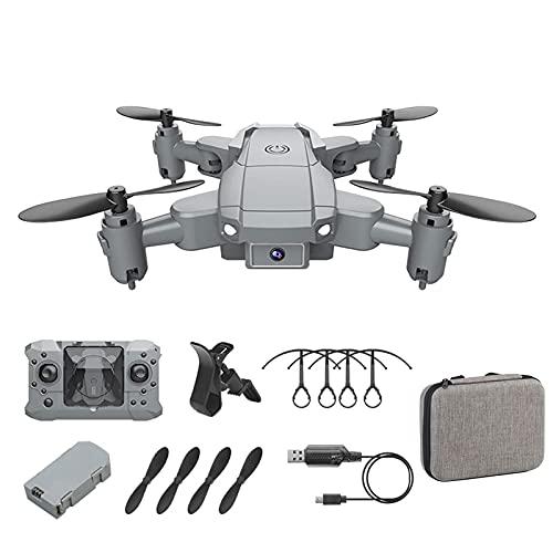 PAKUES-QO Dron 4K con Cámara De Alta Definición, Helicóptero De Cuatro Ejes con Control Remoto para Niños Y Adultos, con Función De Modo Sin Cabeza