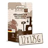 MjAMjAM - Premium Nassfutter für Katzen - Quetschie - purer Fleischgenuss - köstliches Lamm pur, 12er Pack (12 x 125 g), getreidefrei mit extra...
