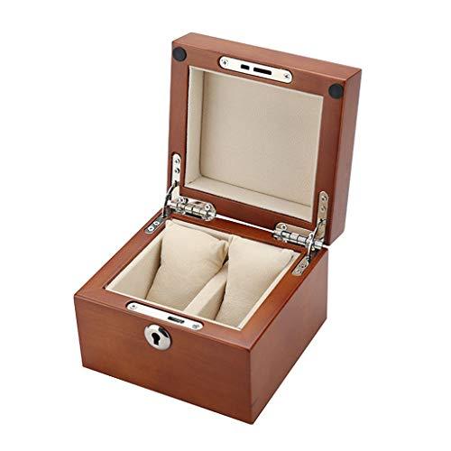 Yousiju 2 Slots Watch Box Almacenamiento Estuche De Vidrio De Madera De Madera De Madera Sólida De Madera Roja Cherry Wood Watch Box Caja De Almacenamiento (Color : D)