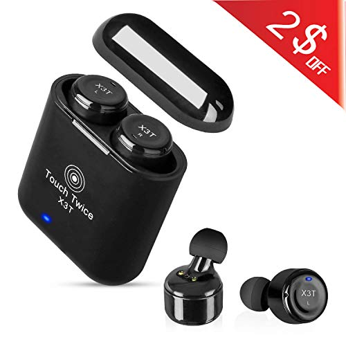 Wireless Bluetooth Earbuds,DEFONG True Wireless Earbuds All-Touch Active Bluetooth Headphones Stereo Headset with Portable Charging Case for iOS/Android and Tablets...