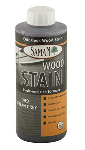 Saman Interior Water Based Stain for Fine Wood, Urban Grey, 12 oz
