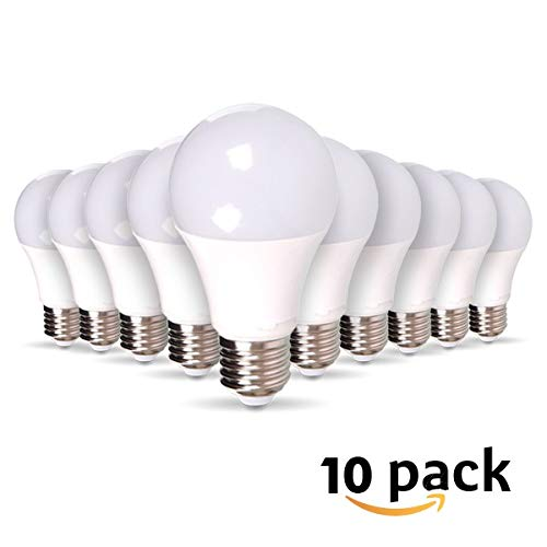 Lot de 10 Ampoules LED E27 9W equivalentce 60W 806lm, Non-Dimmable … (Blanc Chaud)