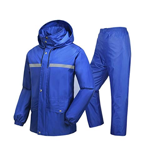 YDS Shop outdoor mannen en vrouwen waterdicht pak, split/hooded/oversized pocket/button rits, versterking, geschikt voor uitstapjes, golf Large