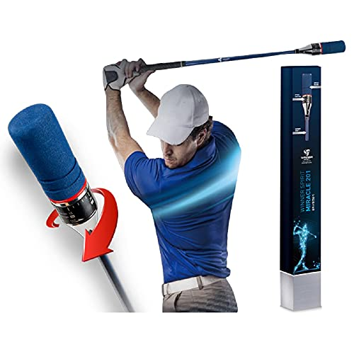 WINNER SPIRIT Miracle201, Patented Golf Swing Training Aid, Swing Trainer, Adjustable Speed for Each Club, Speed Controller, Increase Distance, Better Accuracy, Rhythm & Tempo