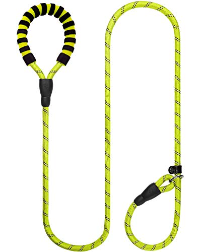 Joytale Dog Slip Leash Rope - Reflective Training Leads for Medium Large Dogs - 1/2 inch by 6 Feet, Green