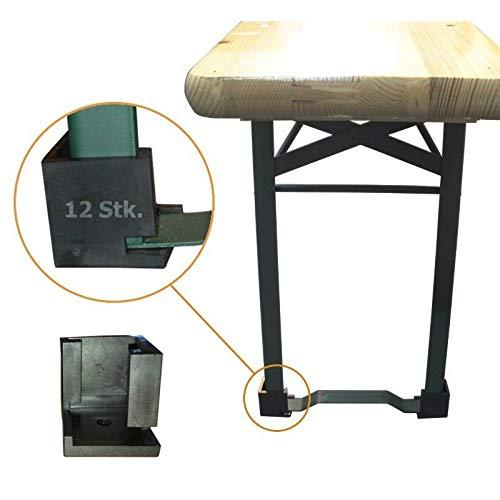 12 Stück SANPRO Bodenschoner für Bierzeltgarnitur/Festzeltgarnitur Boden Schutz