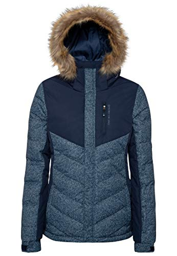 Protest Winter Damen Skijacke 10K wasserdichte und atmungsaktive Winter Ground Blue S/36