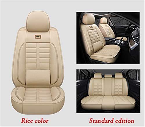 Shengyuan Asiento de cuero transpirable cubiertas de asientos del sistema completo frontal y posterior auto cojines del protector for el Mercedes W203 BMW E36 E46 F10 Jaguar XF Chrysler 300c for Lexus