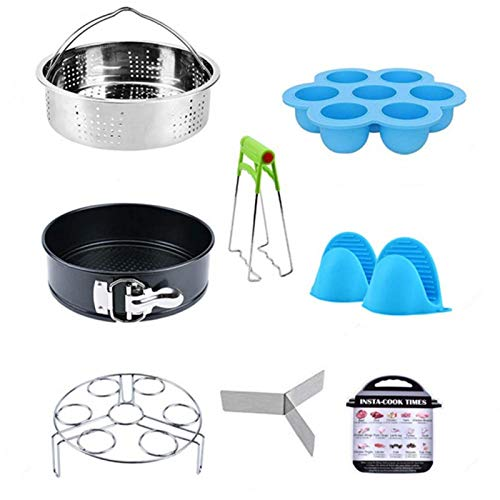 AmandaJ Juego de accesorios para olla a presión, olla eléctrica a presión de alimentos, excelente opción para cocinar al vapor, verduras, arroz, carne y pescado.