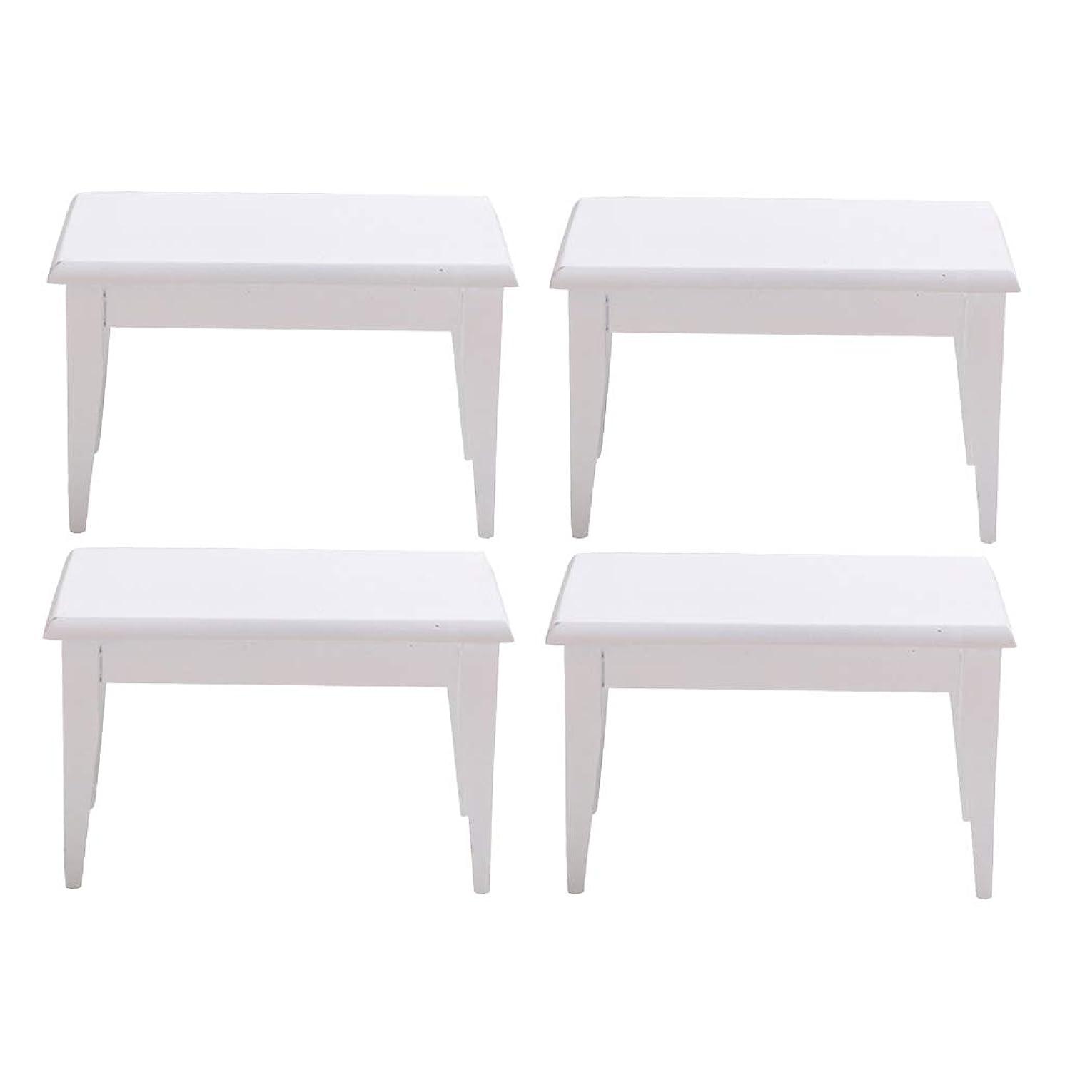 土器気になるガム#N/A 4x1:12ドールハウスミニチュア未塗装木製テーブル家具モデル