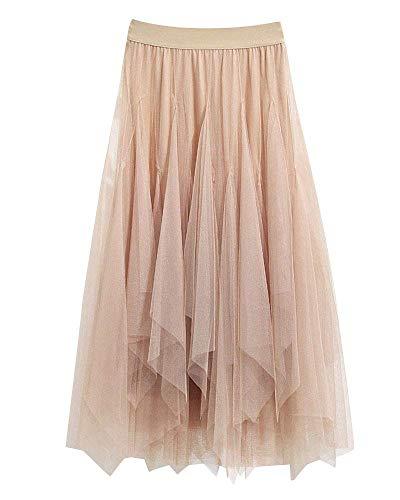 Gasa De Las Señoras De Boho Maxi Plisada Clásico Retro Pretina Elástico Bailar Swing De Una Línea De Faldas Falda Plisada