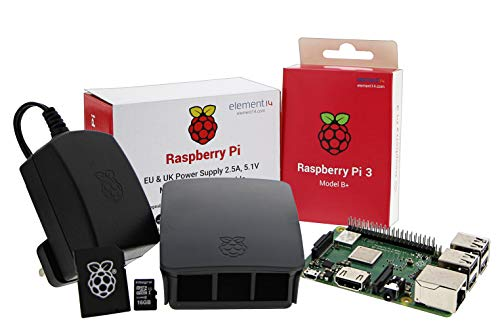Ucreate Raspberry Pi 3 Model B + desktop starter kit (16GB, Nero), processore quad core a 64 bit con 1,4 GHz