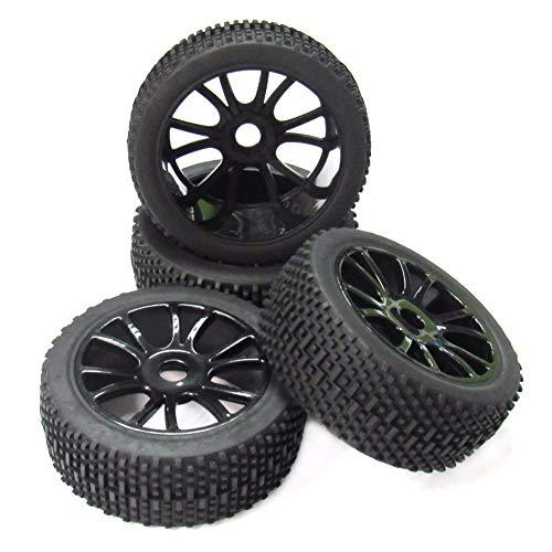 Faderr 4 Stück Hohl Schwarz 17 mm Nabengummi Vollrad Reifen für RC 1/8 Off-Road Auto, Wie abgebildet, 4 pcs