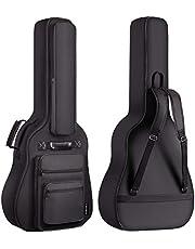 CAHAYA Funda para Guitarra Estuche Guitarra Clasica Acústica Impermeable con 6 Bolsillos Acolchada de 8 mm [Versión Multibolsillos]