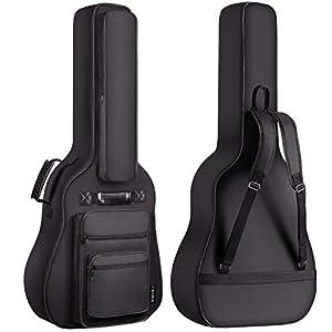 CAHAYA Gitarrentasche Gig Bag Gitarre Tasche Gitarrenhülle 6 Vortaschen wasserdicht mit Notenständertasche 8mm Gepolsterte für 40 41 42 Zoll Gitarren