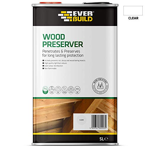 Everbuild EVBLJCR05 Wood Preserver Clear 5 Litre