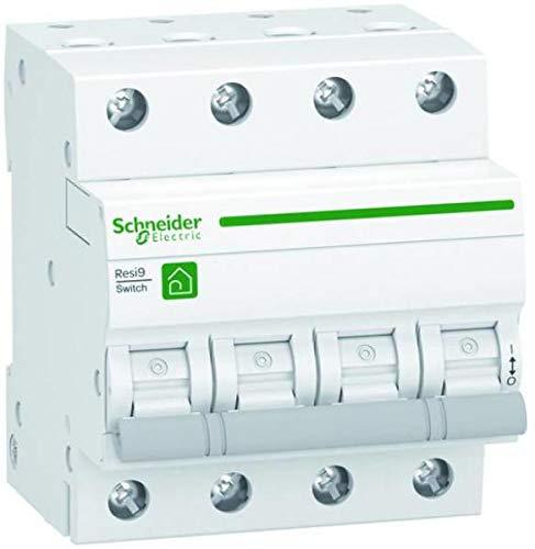 Schneider R9S64463 - Interruptor de separación de carga Resi9, 4 polos + N, 63 A, 415 V CA