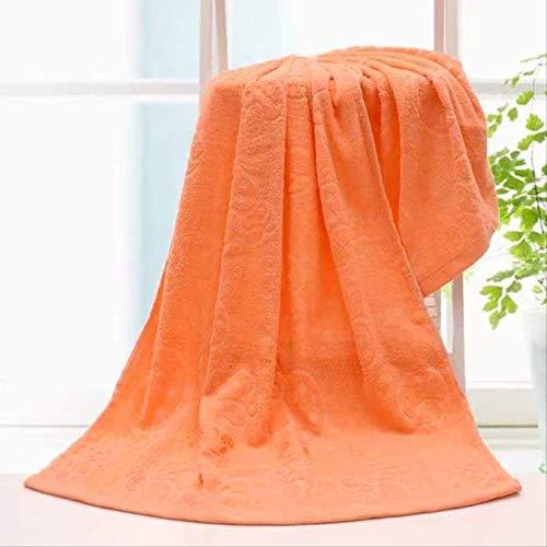 Toalla de baño Algodón 70*140 Ducha Suave Absorbente Y Espesado Toalla Naranja