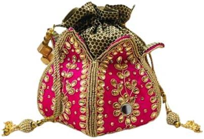 Shafalie's Fashions Rose Lotus Potli Bag