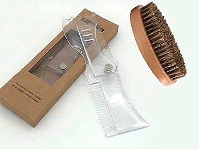 2Pcs Beard Shaper Set Beard Shaping Tool Template and Shaving Brushes Beard Template Shaper Tool for Beard Shaping