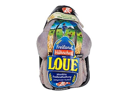 Kreutzers | Freiland Schwarzfederhähnchen Frisches Ganzes Hähnchen Premium Qualiität (Label Rouge) ca. 1,3kg