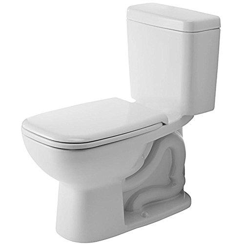 DURAVIT 117010000 D-Code Elongated Toilet Bowl, Alpine White