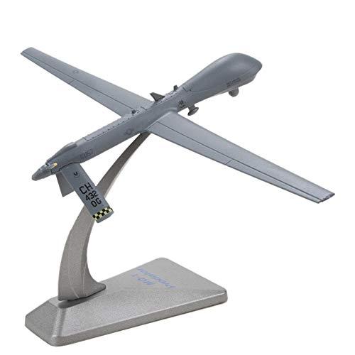 DAYUFEI 1/72 Escala Mq-1 Predator Drone Aviones de reconocimiento Aleación Modelo de avión Colección de Regalos para niños