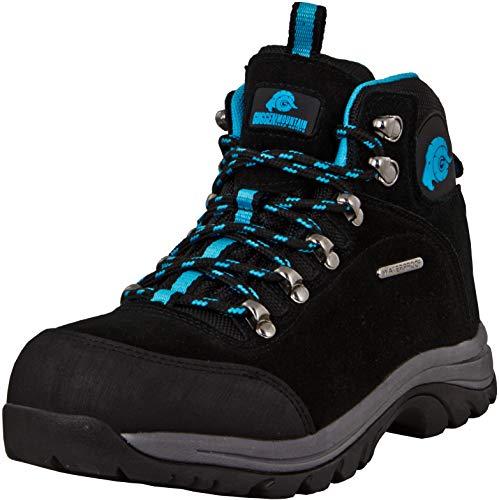 GUGGEN Mountain M014 Damen Trekking-& Wanderstiefel Outdoorschuhe wasserdicht mit Membran und Wildleder Farbe Blau EU 41