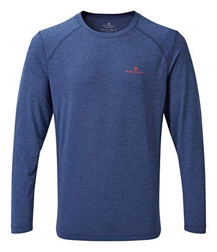 Ronhill Momentum L/S T-Shirt à Manches Longues pour Homme S Bleu Nuit chiné.