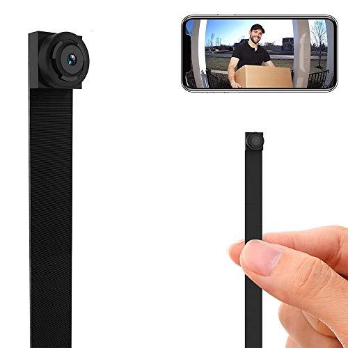 Cámara espía oculta, inalámbrica, con WiFi, minicámara de 1080P, portátil, con cubierta de seguridad, con sensor de movimiento, para teléfonos móviles iOS y Android; Id. del producto: 58DE2CDFFDADE2FA