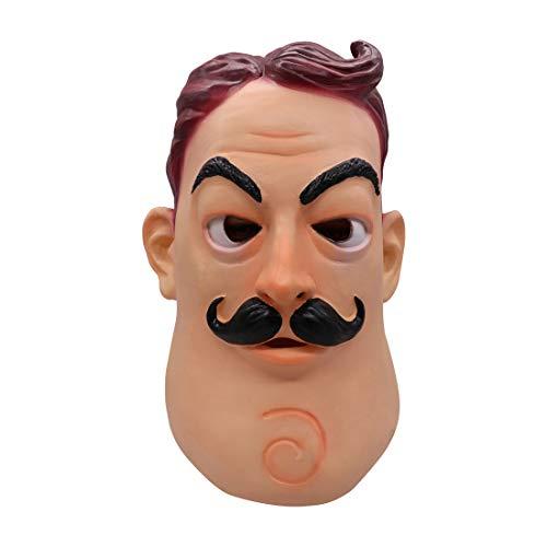 Cafele Halloween Hello Neighbor Mask Cosplay Toy Latex Helmet Masquerade Party Supplies (Neighbor mask)