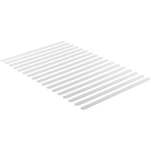 Anti-Rutsch Streifen für Treppen, 17 Stück transparent, selbstklebend