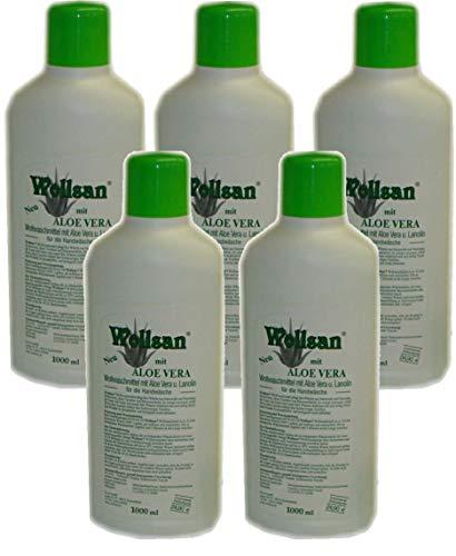 Wollsan Wollwaschmittel mit Aloe Vera und Lanolin (5 x 1.000ml)