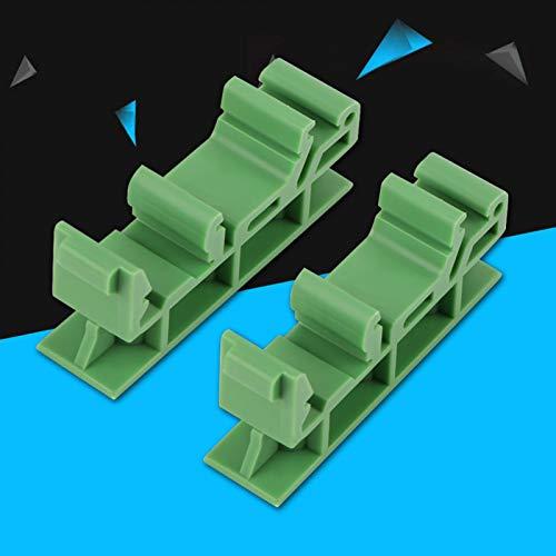 KUIDAMOS 35mm DIN Schienenadapter Leiterplattenhalterung DIY Elektrik zur Montage der DIN C45 Schiene