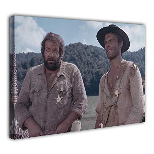 Terence Hill Bud Spencer Leinwand - Sheriffs - Die rechte und die Linke Hand des Teufels - Kunstdruck (75 x 50 cm)