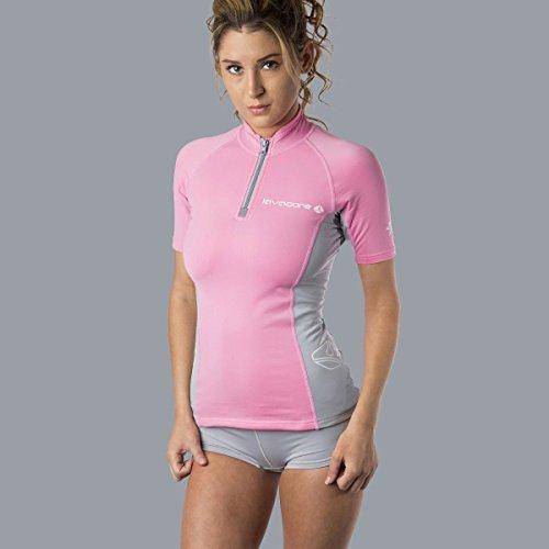 Oceanic Lavacore Lavaskin Damen Taucher-Shirt, kurzärmelig, Rosa/Grau, Größe S