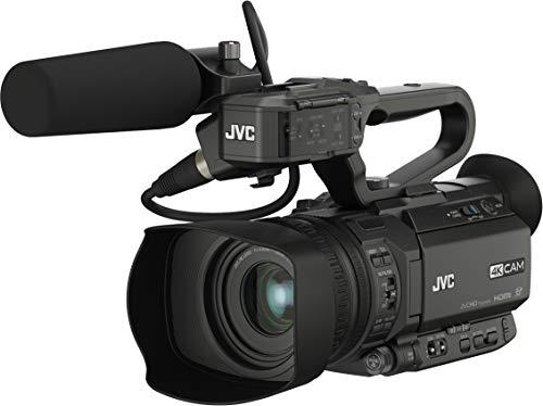 JVC GY-HM180E 12.4MP CMOS 4K Ultra HD Negro Soporte de - Videocámara (12,4 MP, CMOS, 25,4/2,3 mm (1/2.3'), 12x, 24x, 4,67-56,04 mm)