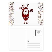 エイリアンモンスター・クリーチャー・サイクロプス 公式ポストカードセットサンクスカード郵送側20個