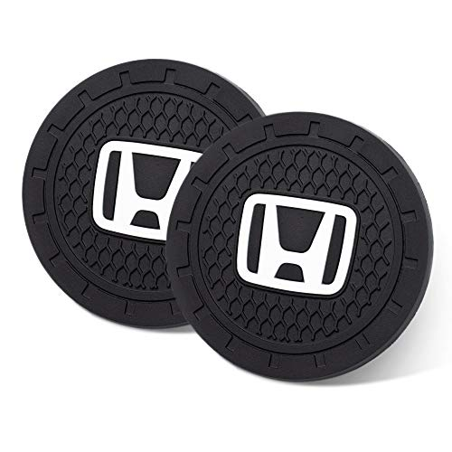 "TIANHES Kacichi Car Interior Accessories for Honda Cup Holder Insert Coaster - Silicone Anti Slip Cup Mat for Honda CR-V CRV Pilot EX EX-L Touring Accord Civic Pilot (Set of 2, 2.75"" Diameter)"