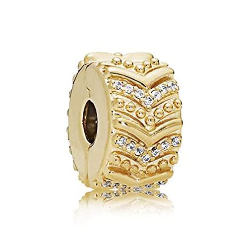LIJIAN Bricolaje 925 Cuentas De Plata 100% Brillo Real Elegante Wish Clip Spring Haga Un Collar...