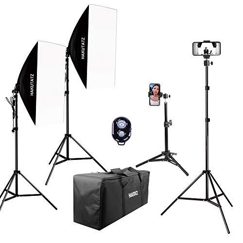 HAKUTATZ® Profi Fotostudio Set Hintergrundsystem mit Schutztasche Studiosets (HK-11)