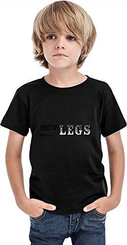 Shut Up Legs - Camiseta para niños, Negro, 10-12 Años