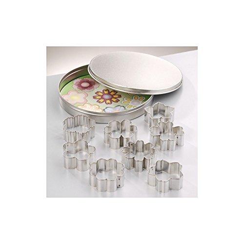 Efco Emporte-pièces en INOX, 9 Fleurs, de 4,5 cm à 5 cm